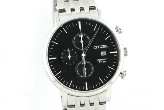 Citizen Chronograph AN3610-55E black dial men's wrist watch with date