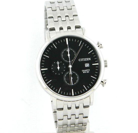 Citizen Chronograph AN3610-55E black dial men's wrist watch with date