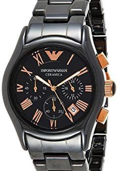 Emporio Armani AR1410 chronograph black dial men's Ceramic wrist watch