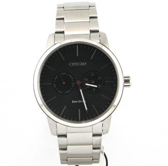 Citizen AO9040-52E Eco-Drive Black Dial Men's Wrist Watch