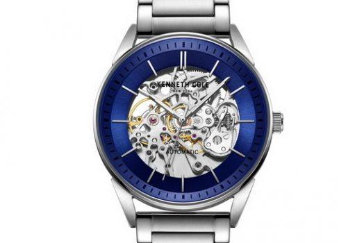 Kenneth Cole Automatic men's wrist watch with blue color skeleton dial