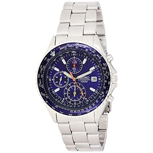 SEIKO SND255P1 Chronograph Men's blue dial wrist watch with date