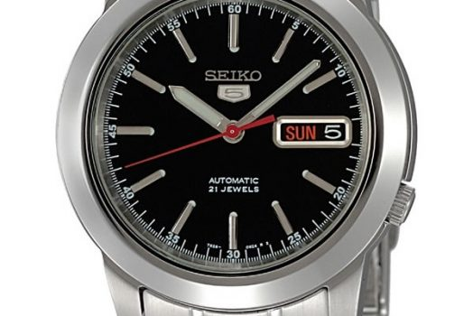 SEIKO 5 SNKE53J1 Automatic men's wrist watch in black dial with day and date