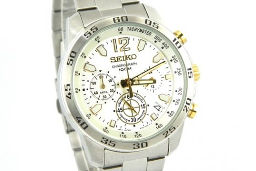 Seiko SSB127P1 chronograph silver dial men's wrist watch with date