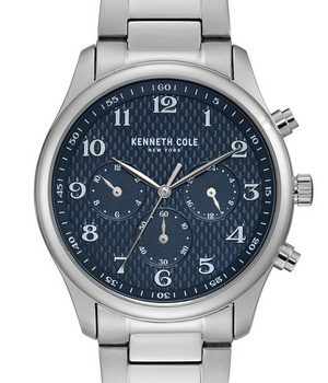 Kenneth Cole KC51024002 Chronograph men's wrist watch in textured blue dial