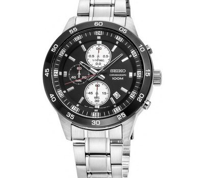 SEIKO SKS647P1 Chronograph men's black dial wrist watch with date